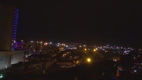 Antenn av nattgatan arkivfilmer