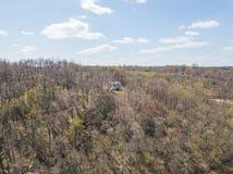 Antenn av Susquehanna River och omgeende område i deltan, Penns Arkivfoto