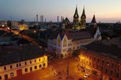 Antenn av Timisoara, Rumänien Arkivbilder