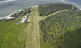 Antenn för dam Elliot Island arkivfoton