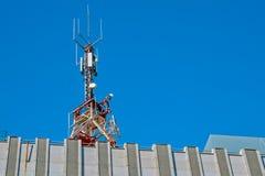 Antenn för kommunikationstorn Royaltyfri Fotografi