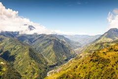 Antenn för Pastaza dallandskap som skjutas i Ecuador Royaltyfria Bilder