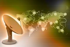 Antenn för satellit- maträtt Arkivbild