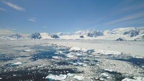 Antenn för seascape för kust för Antarktis halvöhav lager videofilmer