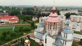 ANTENN: Flyga över domkyrkan 4k arkivfilmer