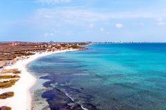 Antenn från Boca Catalina på den Aruba ön Royaltyfria Bilder