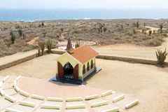 Antenn från Alto Vista Chapel på den Aruba ön Royaltyfria Bilder