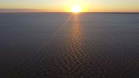 ANTENN: havhavssoluppgång arkivfilmer