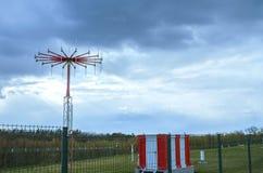 Antenn i privat flygplats royaltyfria foton