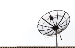 antenn isolerad satellit Royaltyfri Fotografi