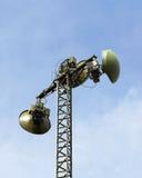 Antenn på masten Arkivbilder