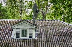 Antenn på taket Fotografering för Bildbyråer
