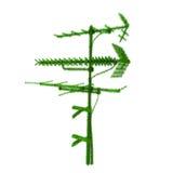 antenn räknat gräs stock illustrationer