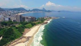 Antenn: Rio de Janeiro och Atlanticet Ocean Shevelev lager videofilmer