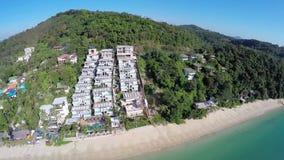 ANTENN: Sikt av havet, Phuket, Thailand lager videofilmer
