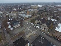 Antenn som skjutas av Chicago Illinois Arkivbild