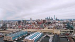 Antenn som skjutas av Philadelphia, USA lager videofilmer