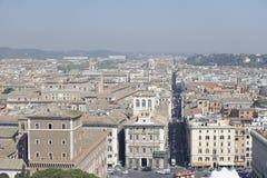 Antenn som skjutas av Rome, Italien Arkivfoton