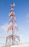 Antenna. Tower antenna on blue sky royalty free stock photos