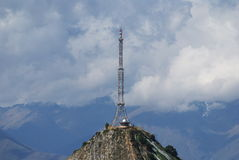 Antenna. On a mountain top Stock Photo