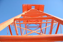 Antenna. Orange antenna in vertical position royalty free stock photos