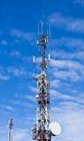 Antenna. Big antenna with sky background Stock Photos