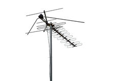 Antenna. TV-antenna with clipping path royalty free stock image