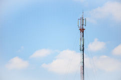 Antenna. Communication antenna with a blue sky Stock Photography