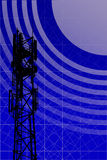 Antenna. With blue sky and abstract background royalty free illustration