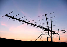 Antenna. In the sunset stock image
