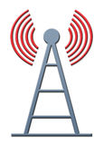 Antenna. Icon with shadow and white background Royalty Free Stock Photo