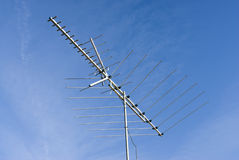 Antenna. Old style analog tv antenna Stock Photos