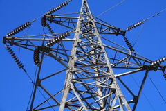 Antenna. Tall antenna towards blue sky Royalty Free Stock Photos