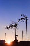 Antenna aerea della TV Immagini Stock Libere da Diritti
