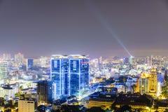 Antenna alla notte, Vietnam di Ho Chi Minh Fotografia Stock