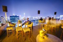 Antenna alla notte, Vietnam di Saigon Fotografie Stock