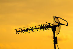 Antenna. For family home entertainment Royalty Free Stock Images