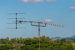 Antenna antiquata della televisione Fotografia Stock