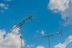 Antenna antiquata della televisione Immagini Stock Libere da Diritti