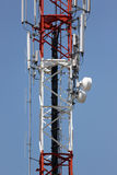 Antenna array phone signal serving. Royalty Free Stock Image