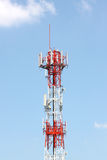 Antenna array phone signal serving. Stock Photo