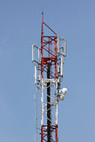 Antenna array phone signal serving. Stock Photos