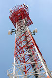Antenna array phone signal serving. Royalty Free Stock Photos