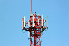 Antenna array phone signal serving. Royalty Free Stock Photo