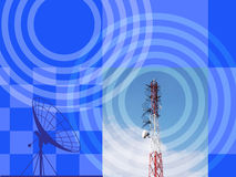 Antenna with blue sky. And abstract background royalty free illustration