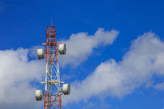 Antenna with blue sky Stock Photos
