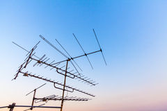 Antenna in blue sky Stock Photo