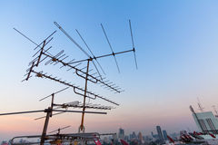 Antenna in blue sky Stock Photography