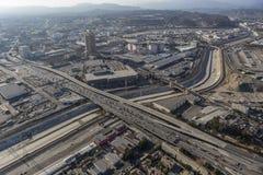 Antenna Boyle Heights del fiume di Los Angeles Fotografia Stock