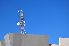 Antenna Cellular. Cellular antenna on the roof of a house in Egypt royalty free stock photo